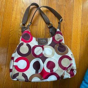 Coach Maggie Madison Op Art Shoulder Bag